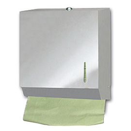 HAND TOWEL ZIG-ZAG PAPER HOLDER INOX  600 SHEETS 3 PCS.