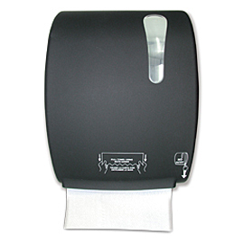 HAND TOWEL HANDROLL PAPER HOLDER BLACK AUTOCUT