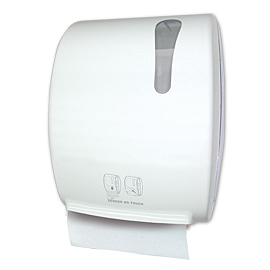 HAND TOWEL HANDROLL PAPER HOLDER WHITE  WITH PHOTOEL. CELL