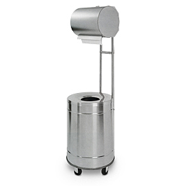 CASE FOR IND. PAPER ROLL INOX SAT. WITH WHEELED BIN 70L (125/AS)