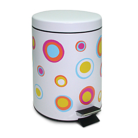PAPER BIN METALLIC 5L WITH PEDAL WITH CYCLES 2 PCS.