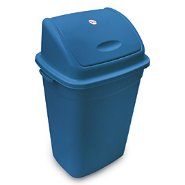 BIN BLUE 50L WITH LID PENDULOUS LID