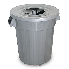BIN GRAY 120L WITH LID 1/2
