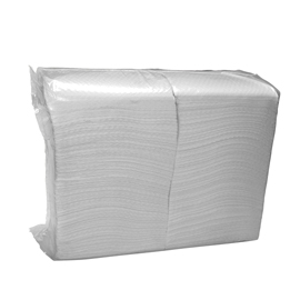 NAPKIN 1PLY SATINE WHITE 23X28 4X750 PCS