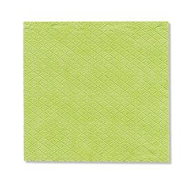 NAPKIN LIME GREEN EMBOSSED SOFT 1PLY 23X24 5X750 PCS.