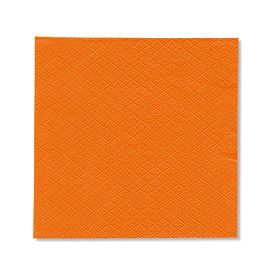 NAPKIN ORANGE EMBOSSED SOFT 1PLY 23X24 5X750 PCS.