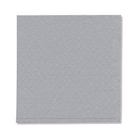 NAPKIN GRAY EMBOSSED SOFT 1PLY 23X24 5X750 PCS.