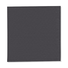 NAPKIN BLACK  1PLY 23X24 5X750 PCS.