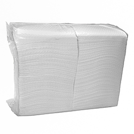 NAPKIN WHITE SOFT EMBOSSED 23X24 5X600 PCS