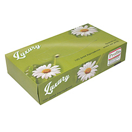 WHITE FACE TISSUES 2PLY LUXURY - 38 X 100 PCS