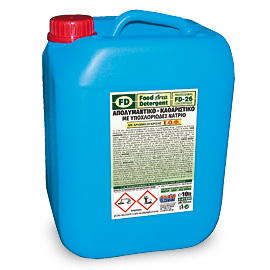 FD 26 ALKALINE DETERGENT DEGREASER WITH ACTIVE CHLORINE HIGHLY FOAMING 10L