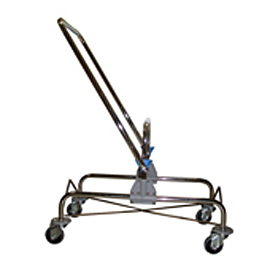 MOPPING CART SET CHROME DOUBLE WITH HANDLE