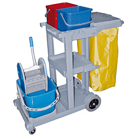 COMPLETE MOPPING SET BLUE WITH LID